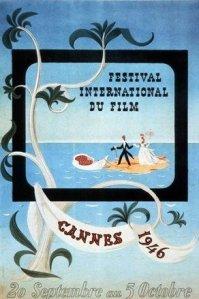 La toute première affiche du Festival de Cannes 1949