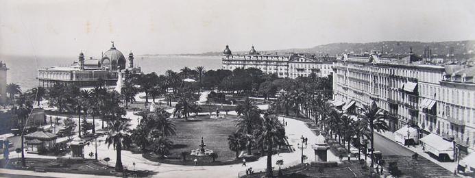 Le jardin Albert 1er vers 1914, collection Bibliothèque de Cessole
