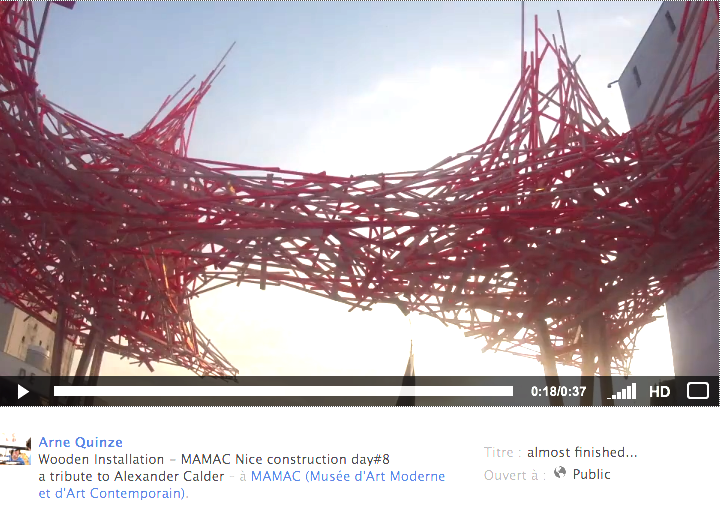 Arne Quinze, le making of de l'installation du Mamac
