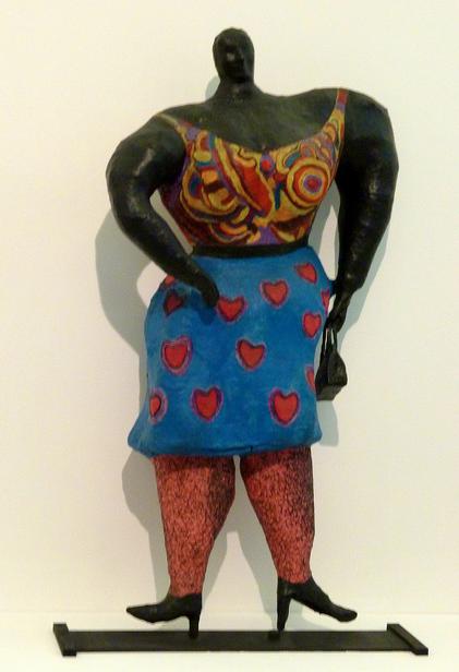 Black Rosy ou My heart belongs to Rosy de Niki de Saint-Phalle (1965) au Mamac de Nice