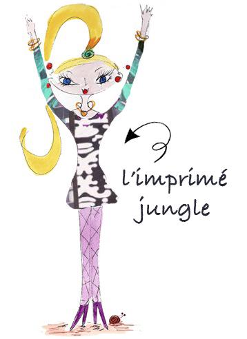 imprimé jungle