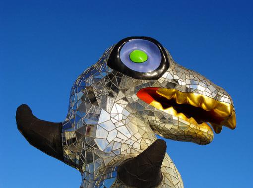 Le monstre du Loch Ness de Niki de Saint Phalle (détail)