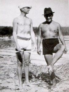 Murphy et Picasso plage de la Garoupe à Antibes en 1923