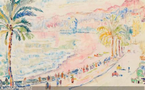 Nice la Promenade des Anglais, Paul Signac