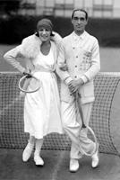 Suzanne Lenglen et Max Decugis (de Biot), champions olympiques en double mixte à Anvers en 1920