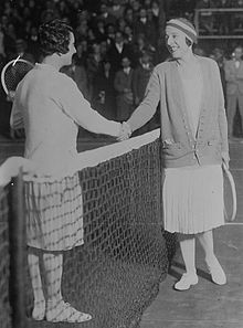 Suzanne Lenglen et Mary Browne
