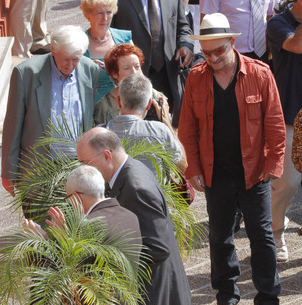 Bono et James Joyce Nice juillet 2013 2