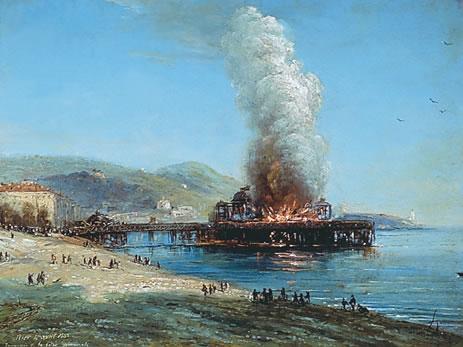 L'incendie de la jetée-promenade 4 avril 1883, par Jules Defer