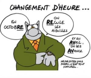 le chat - changement d'heure