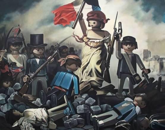 D'après Eugène Delacroix, 1830, La Liberté guidant le Peuple