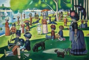 D'après Georges Seurat (1884-1886), un dimanche après-midi à l'île de la Grande Jatte