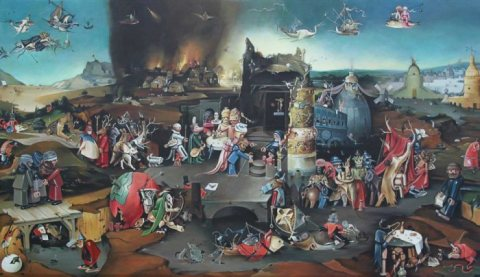 D'après Jérôme Bosch (vers 1501), La tentation de Saint-Antoine
