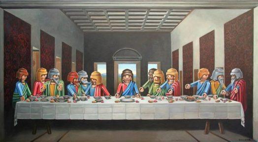 D'après Léonard de Vinci (1495-1498), La Cène