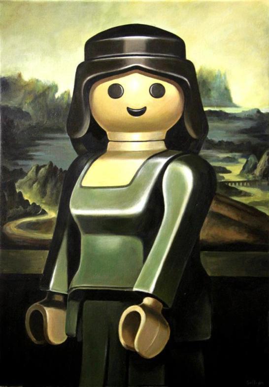 D'après Léonard de Vinci (1503-1517) La Joconde