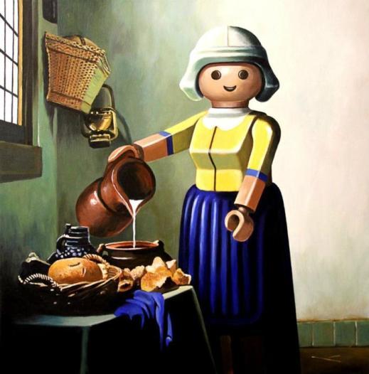 D'après Vermeer (1657-1658) La laitière