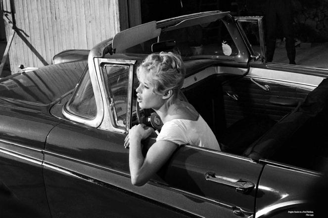 1959 Dans une Ford Fairlane à Nice