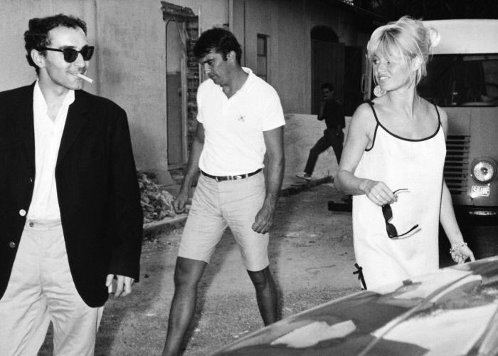 1963 - Avec Godard aux studios de la Victorine à Nice