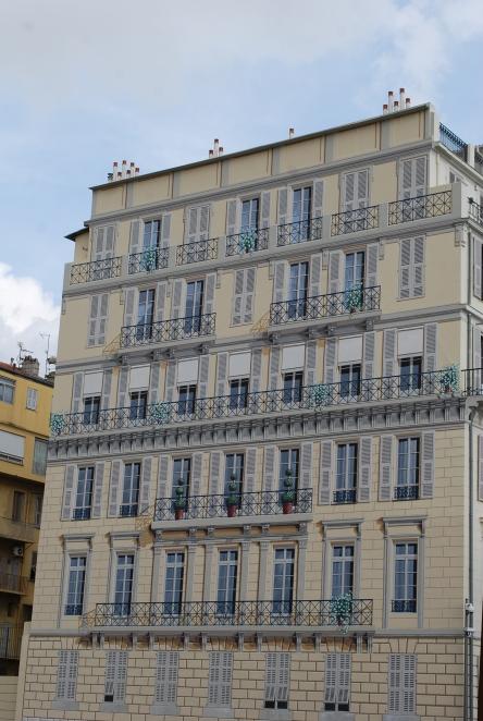 Trompe-l'oeil de la place Georges-Pompidou à Nice