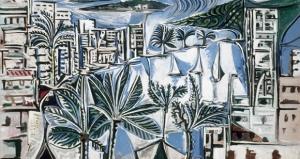 La baie de Cannes par Picasso, 1958
