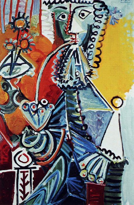 Picasso 1968 Le gentilhomme à la pipe. Mas de Notre-Dame de Vie à Mougins