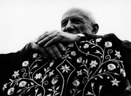 Picasso aux Arènes de Fréjus 1962 (Photo Lucien Clergue)