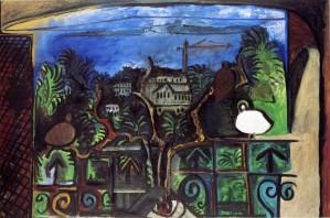Picasso Cannes au Crépuscule. Il quitte sa villa La Californie en 1961 quand des grues et des immeubles lui coupent la vue sur la mer