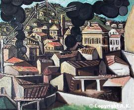 Picasso fumées de Vallauris (1951). Ces fumées s'échappent des fours de potiers