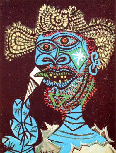 Picasso Homme au chapeau de paille et cornet de glace à Mougins en 1938