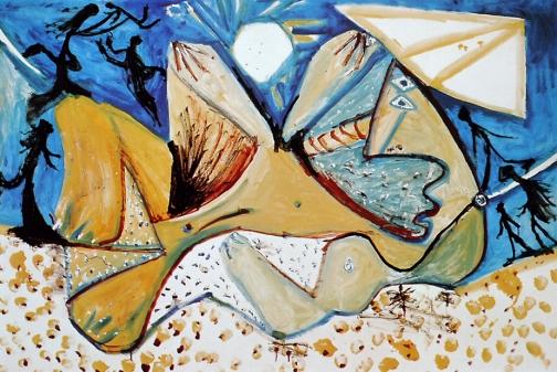 Picasso Nu couché (1971) peint à Mougins alors que PIcasso a 90 ans
