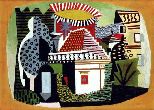 Picasso - Paysage de Juan-les-Pins. En 1920 Picasso découvre Juan-les-Pins quand personne n'y séjournait en été