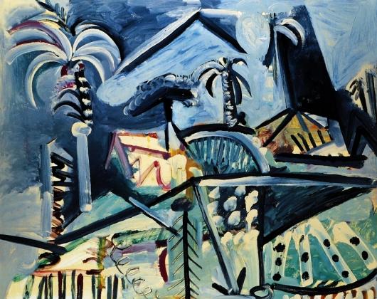 Picasso paysage Mougins (1972)