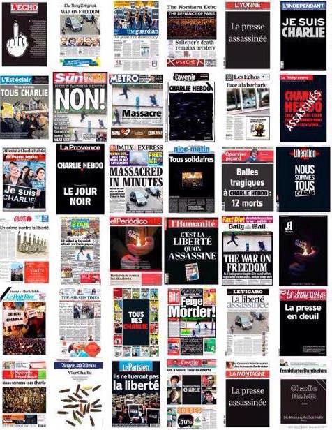 Les unes des journaux du 8 janvier