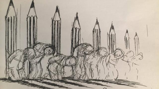 """Chaunu, dessinateur français, dans Ouest France """"Nous ferons face"""""""