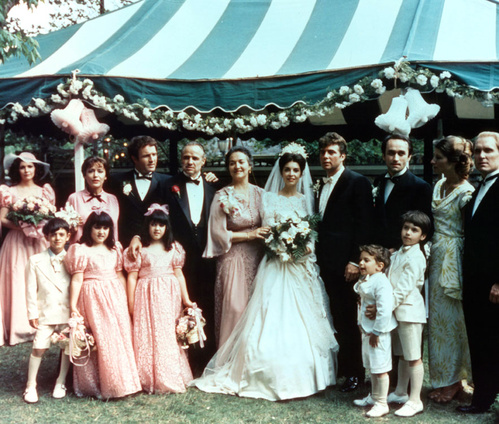 1972 - Le mariage de Constanzia Corleone et Carlo Rizzi dans Le Parrain de Francis Ford Coppola