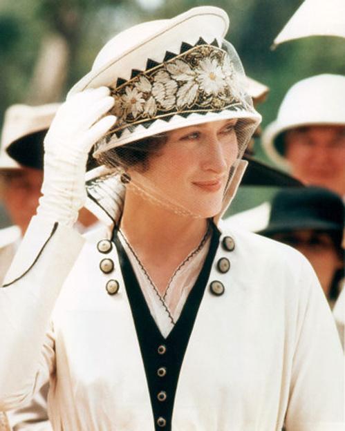1985 - Meryl Streep dans Out of Africa de Sydney Pollack