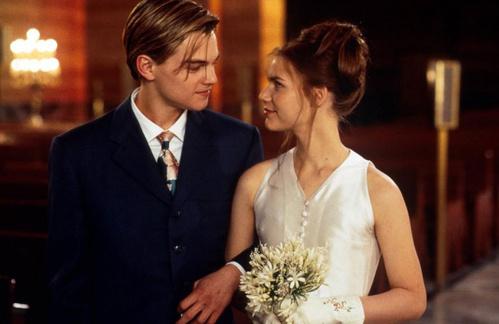 1996 - Leonardo Dicaprio et Claire Danes dans Romeo + Juliet de Baz Luhrmann