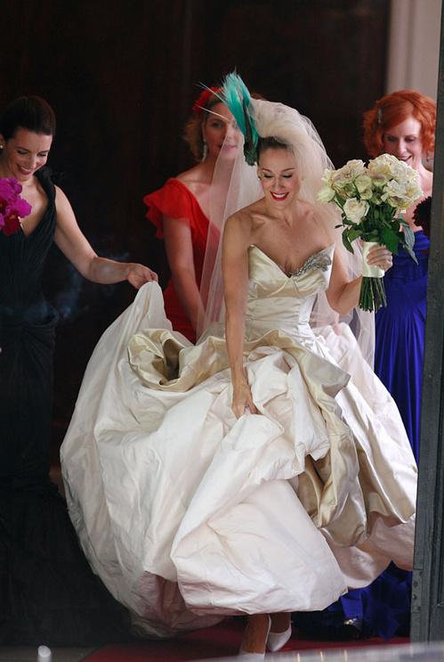 2008 - Sarah Jessica Parker en Vivienne Westwood dans Sex And the City de Michael Patrick King