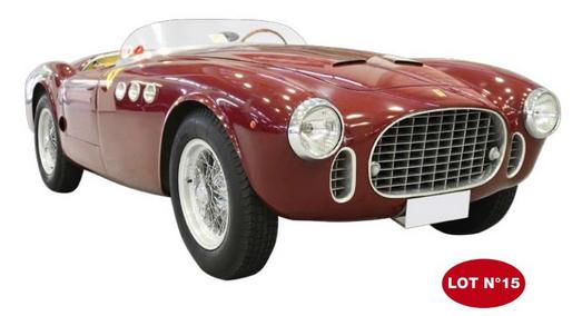 La Ferrari 212 INTER 1952, estimée à 1.000.000 ) 1.500.000 euros !