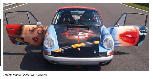 """La Porshe 911 SWB 2 L 1965  """"Peter Klasen 007"""" (modèle unique) estimée à 360.000 à 500.000 euros"""