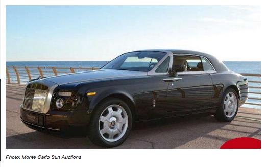 Une Rolls Royce Phantom Coupé 2008 estimée à 200.000 euros
