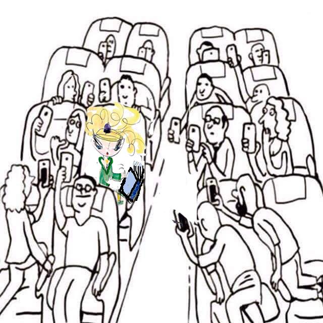 Griotte lit dans un avion
