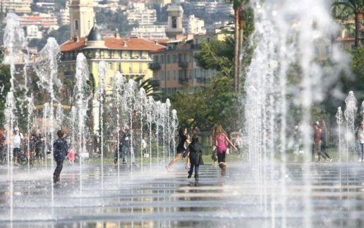 Jeux d'eau sur la Promenade du Paillon