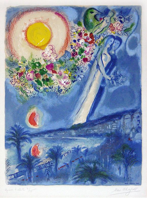 Fiancés dans le ciel de Nice et de la Côte d'Azur, Marc Chagall