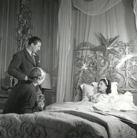 Chanel dans son lit à La Pausa