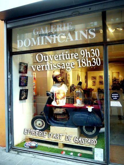 L'Épicerie d'Art de Gaspard à la Galerie des Dominicains (Nice, en face de l'Opéra), jusqu'au 7 février