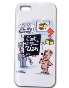 Coque smartphone et i-pod avec une reproduction d'une oeuvre de l'artiste Kristian : L'art ne vaut rien de BEN