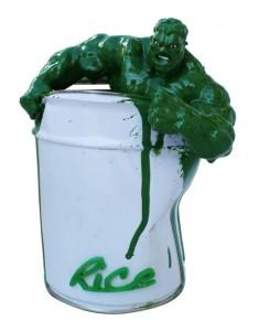 Hulk vert en résine par l'artiste Rice Matière : métal et résine Dimensions : 15 x 18 x 10cm Pièce unique - disponible dans d'autres couleurs - 250 €