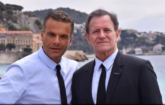Steve Suissa et Francis Huster sur la Promenade des Anglais