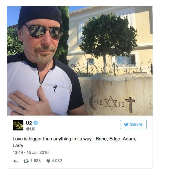 The Edge de U2, en prière pour les victimes de Nice